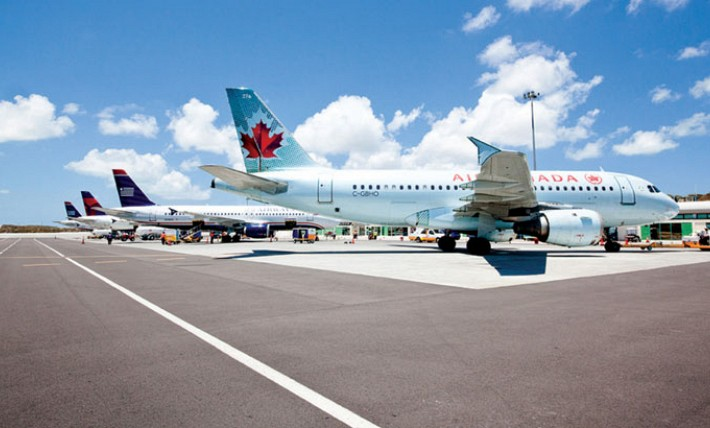 perfect landing for the Providenciales International Airport