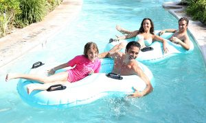 Marini, wife Carol, son Georges and daughter Julianna, had 'an unbelievable blast' in Turks and Caicos in March.