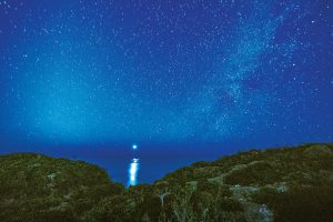 """This photograph by Dominique Rolle,  """"Sailing the Milky Way, Pirate's Cove"""" was showcased at the 2016 An Evening of Art Event at Amanyara."""