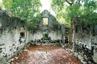 An abandoned plantation that once grew sisal for rope and twine is another beautiful historic site preserved as a National Trust Heritage site.
