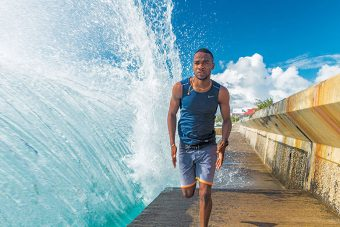 Delano Williams, who grew up on the island of Grand Turk, is inspiring his birth nation.