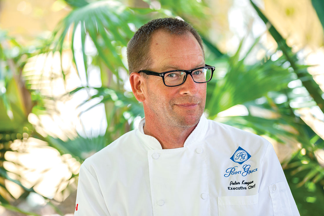 Chef Peter Keegan is putting his touch on the summer menus at Point Grace.