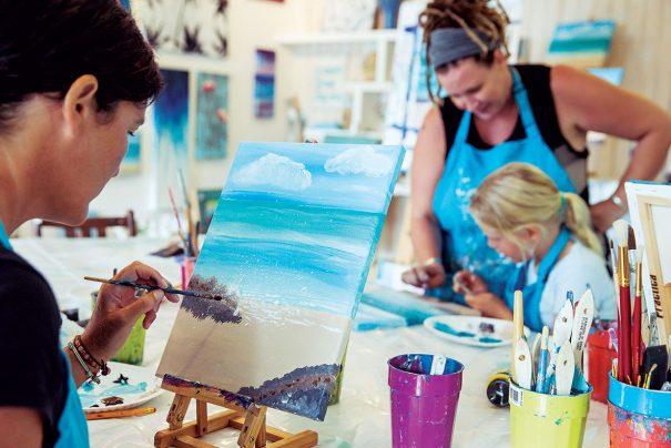 parents & kids enjoy getting creative together